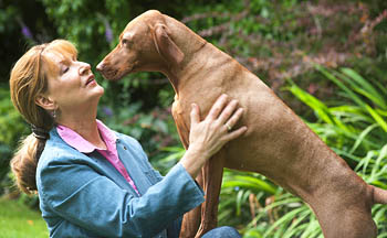 Margrit Coates Healing with Dog